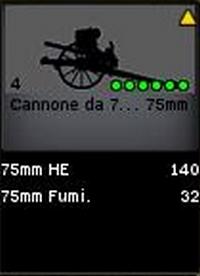 canon da 75 mm
