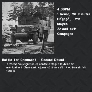 Battle for Chaumont - Second Round 1
